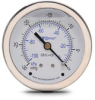 -30 to 0 in Hg Liquid fill vacuum Pressure Gauge 2.5in mechanical dial -- G25-SLV-4CB
