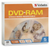 Verbatim DVD RAM 4.7GB 5X Branded 5-Pack Slim Case -- 95373
