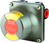 MICRO SWITCH VPX Series Valve Position Indicator, assembled in China, 2X intrinsically safe inductive prox sensor, 90° indicator, Yellow (open)/Red (closed), Namur shaft, 360° continuous sha -- VPX1C2CBYR1A2A - Image