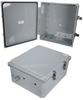14x12x06 Polycarbonate Weatherproof Outdoor IP66 NEMA 4X Enclosure, Modified Base DKGY -- TEPC141206-02 -Image