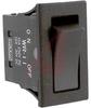 Switch, Rocker, SPST, On-Off, Black Rocker, Solder Lug, Epoxy -- 70192898