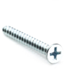 "#10 x 1"" Phillips Flat Head Sheet Metal Screw, Hardened, Type A, Zinc -- SMSPHF0100100AZ - Image"
