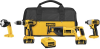 18V Cordless 4-Tool Combo Kit with XRP™ Li-Ion Battery Packs -- DCK465L