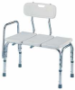 ADA Adjustable Bench with Backrest,White -- 4EEX1