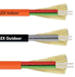 Duplex Buffered Plastic-Clad Fiber Cable for Continuous Flex Applications -- HITRONIC® PCF DUPLEX FD