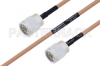 MIL-DTL-17 N Male to N Male Cable 200 cm Length Using M17/128-RG400 Coax -- PE3M0064-200CM -Image