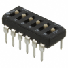 DIP Switches -- 210-6MSFD-ND -- View Larger Image