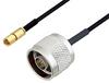 N Male to SSMC Plug Cable 60 Inch Length Using PE-SR405FLJ Coax -- PE3C4451-60 -- View Larger Image