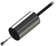 The DF DC/DC miniature displacement transducer has a friction-free core and DFg has a free guided core incorporating Delrin bearings.