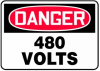 Danger 480 Volts Sign -- SGN975 - Image