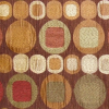 Circle and Square Chenille Fabric -- R-Oakley -- View Larger Image