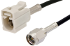 SMA Male to White FAKRA Jack Cable 48 Inch Length Using RG174 Coax -- PE39199B-48 -Image