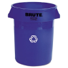 Brute Recycling Container, Round, Plastic, 32 gal, Blue -- 263273
