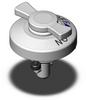 1/4 - Turn Fastener - Low Height Knob - 6MM-10MM -- QCTHL0834-20S