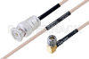 MIL-DTL-17 BNC Male to SMA Male Right Angle Cable 36 Inch Length Using M17/113-RG316 Coax -- PE3M0087-36 -Image