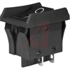 Switch, Rocker, INTERNATIONALLY APPROVED TV, 16A @ 125/250VAC, ON-NON-OFF, BLK -- 70192008 - Image