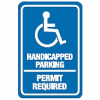 High Density Sign - Handicapped Parking Permit Required