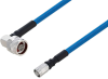 Plenum N Male Right Angle to NEX10 Male Low PIM Cable 200 cm Length Using SPP-250-LLPL Coax Using Times Microwave Parts -- PE3C6257-200CM -Image