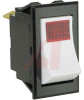 Switch, Rocker, Single Pole, ON-NONE-OFF, 0.250 Tab Terminals, 125 V Neon Lamp -- 70131647