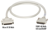 VHDCI 68 Male to Micro D 50 (Mini 50) Male Cables, 6-ft. (1.8-m) -- EVMS24-0006