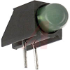 Indicator, PCB, Green LED; T-1 3/4 RA, 10mcd, TTL Compatible -- 70130269