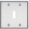 Stainless Steel Wallplate, DB15, Double-Width, 1-Punch -- WP082