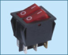 Double-poles Rocker Switch -- IRS-2101-1A ON-OFF - Image
