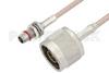 Slide-On BMA Plug Bulkhead to N Male Cable 12 Inch Length Using RG316 Coax -- PE3C4945-12 -Image