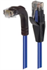 Category 6 Right Angle RJ45 Ethernet Patch Cord - Straight to RA (Down) - Blue, 10.0Ft -- TRD695RA1BL-10 -- View Larger Image