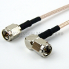 SMA Male to RA SMA Male Cable RG-316 Coax in 36 Inch -- FMC0204315-36 -Image