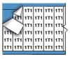 Machine Tool Symbol Wire Marker Card -- WM-1T1-PK