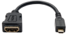 Micro HDMI to HDMI Adapter for Ultrabook/Laptop/Desktop PC - 1920x1200/1080P, (Type D M/F) 6-in. -- P142-06N-MICRO