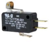 MICRO SWITCH V7 Series Miniature Basic Switch, Single Pole Double Throw Circuitry, 15 A at 277 Vac, Roller Lever Actuator, 1,72 N [6.2 oz] Maximum Operating Force, Silver Contacts, Quick Connect Termi -- V7-1C17D8-201 -Image