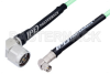 SMA Male Right Angle to N Male Right Angle Low Loss Cable 12 Inch Length Using PE-P142LL Coax, RoHS -- PE3C1528-12 -Image