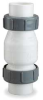 Check Valve,2 In,Compression,PVC -- 4RG91