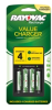 4 Position AA and AAA Charger with Batteries (4 packs/case) -- PS133-4B