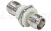 Coaxial Adapter, TNC Bulkhead, Female / Female, Insulated Ground -- BA1090 - Image