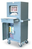 Mobile Computer Cabinet with Keyboard Drawer -- 25-CC-242-RK-CA - Image