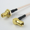 SMA Female Bulkhead to RA Push-On SMB Male Cable RG-316 Coax in 6 Inch and RoHS -- FMC1226315LF-06 -Image