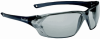 Bolle Prism Safety Glasses with Shiny Black Frame and Silver -- 253-PR-40059