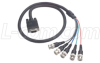 SVGA Breakout Cable, HD15 Male/5 BNC Male, 12.0 ft -- CTL5CAT-12B -Image