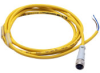CABLE 2m (6.5ft) EURO MICRO Q/D AXIAL FEMALE DC 4-PIN/4-WIRE PVC YEL -- CSDS4A4CY2202