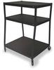 Cart,Wide Body,3 Shelves,Black -- 1DNP4