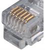 Flat Modular RJ12 Cable, RJ12 (6x6) / RJ12 (6x6), 1.0 ft -- TDC057-1 -Image