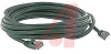 CABLE, MOLDED, CAT 5E WITH LOW PROFILE,5FT. GREEN; BOOTED -- 70081021 - Image