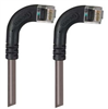 Category 6 Right Angle Patch Cable, RA Right Exit/RA Right Exit- Gray 15.0 ft -- TRD695RA14GRY-15 -Image
