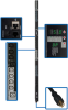 3-Phase Switched PDU, 5.8 kW, 30 208V outlets (24 C13, 6 C19) per-outlet and per-phase current metering, 6 ft. Cord, NEMA L21-20P 20A 208V input, 0U vertical mount, TAA Compliant -- PDU3VSR6L2120