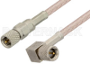 10-32 Male to 10-32 Male Right Angle Cable 72 Inch Length Using RG316 Coax, RoHS -- PE36530LF-72 -- View Larger Image