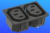 Power Inlet IEC 320-C13- 2 -7 gang -- AEL-JR-302G2-(15) - Image