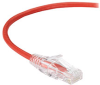 Slim-Net 28-AWG CAT6 250-MHz Ethernet Patch Cable (UTP) - PVC, Snagless, Red, 3 ft. -- C6PC28-RD-03